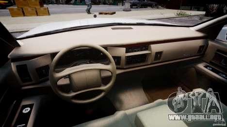 Buick Roadmaster Sedan 1996 v1.0 para GTA 4 vista hacia atrás
