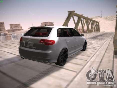 Audi RS3 2011 para GTA San Andreas vista hacia atrás