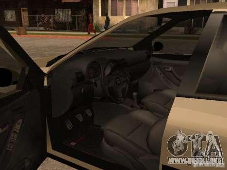 Seat Toledo 1.9 1999 para visión interna GTA San Andreas