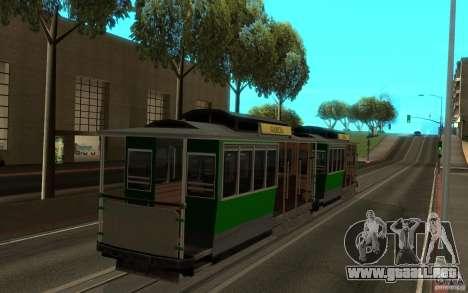 New tram mod para GTA San Andreas left