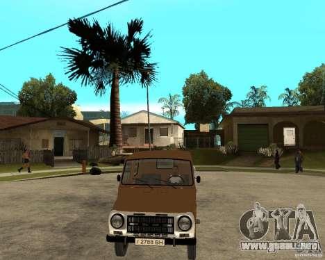 LuAZ-13021-04 para GTA San Andreas vista hacia atrás