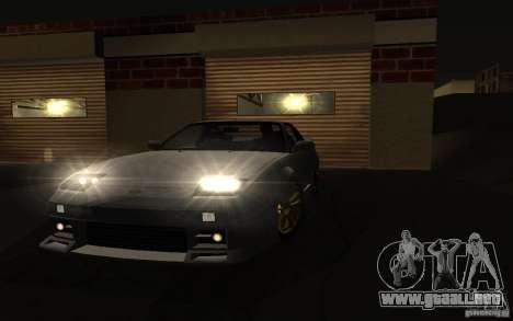Nissan 240SX X1800 para GTA San Andreas vista posterior izquierda