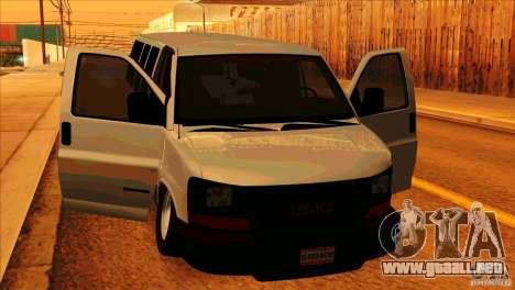 GMC Savanna 2500 para visión interna GTA San Andreas