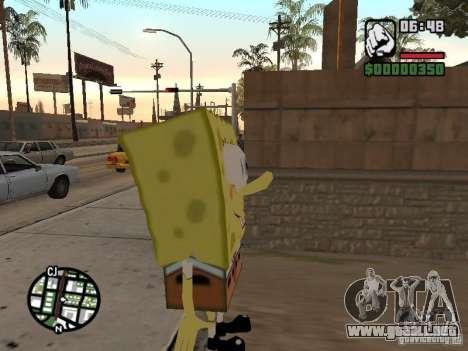 Sponge Bob para GTA San Andreas segunda pantalla