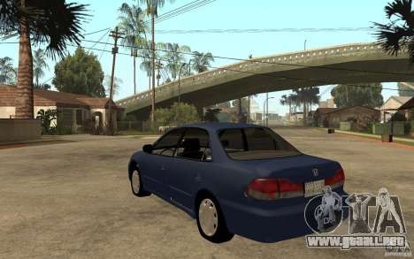Honda Accord 2001 beta1 para GTA San Andreas vista posterior izquierda
