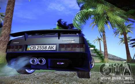 VAZ 2109 carbono para GTA San Andreas vista hacia atrás