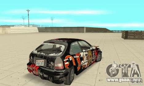 Honda-Superpromotion para la vista superior GTA San Andreas