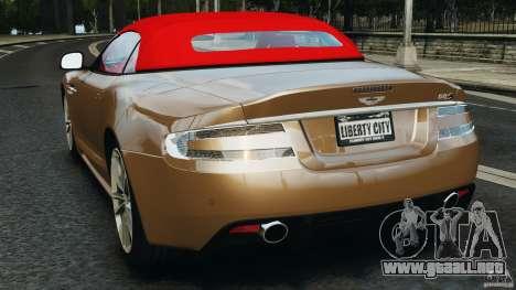 Aston Martin DBS Volante [Final] para GTA 4 Vista posterior izquierda