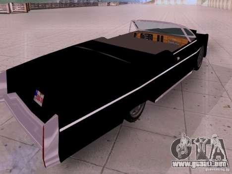 Cadillac Deville 1974 para GTA San Andreas vista posterior izquierda
