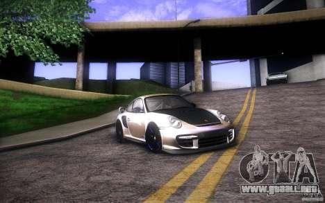 Porsche 911 GT2 RS 2012 para GTA San Andreas vista posterior izquierda