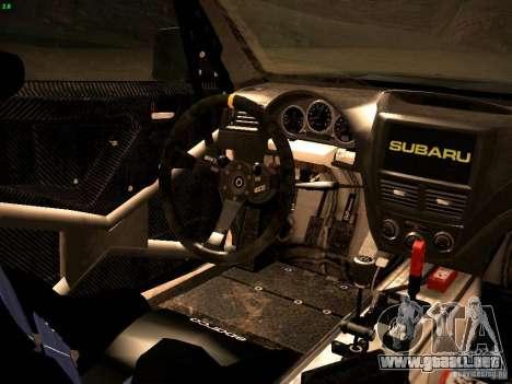 Subaru Impreza Gravel Rally para vista lateral GTA San Andreas