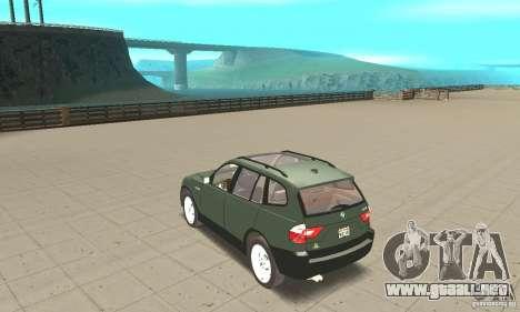 BMW X3 2.5i 2003 para GTA San Andreas vista posterior izquierda