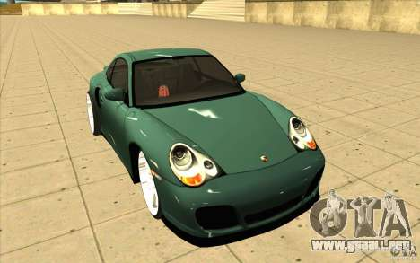 Porsche 911 Turbo para GTA San Andreas vista hacia atrás