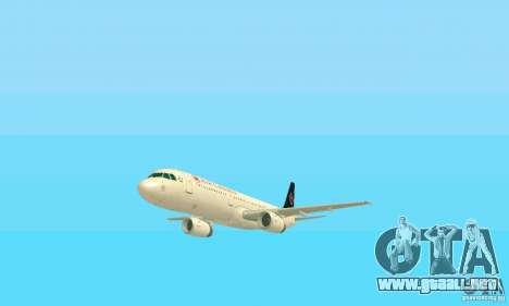 Airbus A321 Air Canada para vista lateral GTA San Andreas