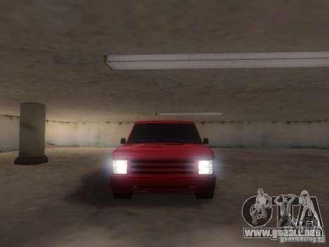 New Huntley para GTA San Andreas vista hacia atrás
