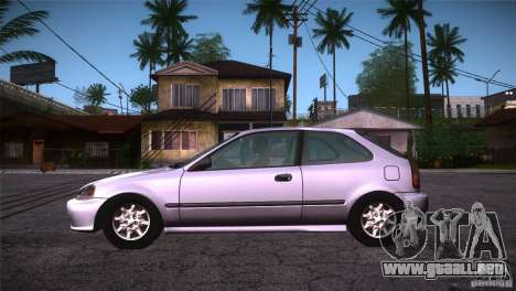 Honda Civic Tuneable para GTA San Andreas left