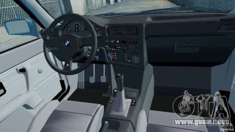 BMW M3 E30 FINAL para GTA 4 vista interior