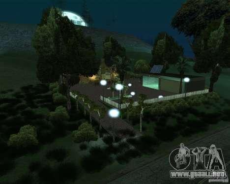 Nueva villa de CJ para GTA San Andreas segunda pantalla