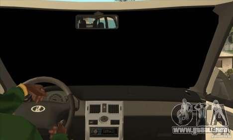 VAZ LADA Priora convertible para visión interna GTA San Andreas