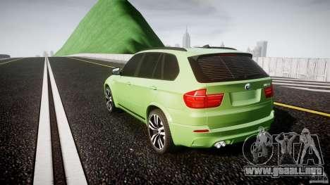 BMW X5 M-Power para GTA 4 Vista posterior izquierda