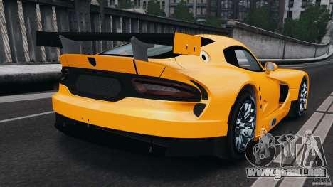 SRT Viper GTS-R 2012 v1.0 para GTA 4 Vista posterior izquierda