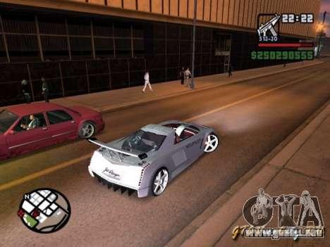 Cadillac Cien The SHARK DREAM Tuning para GTA San Andreas left