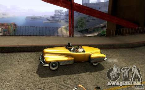 Buick Y-Job 1938 para vista inferior GTA San Andreas