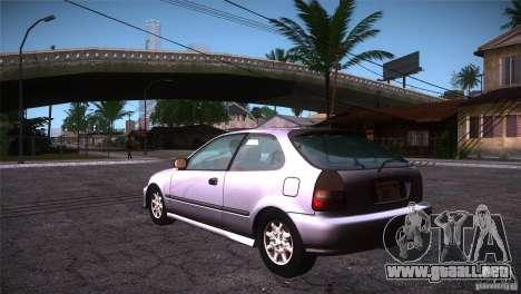 Honda Civic Tuneable para GTA San Andreas vista posterior izquierda