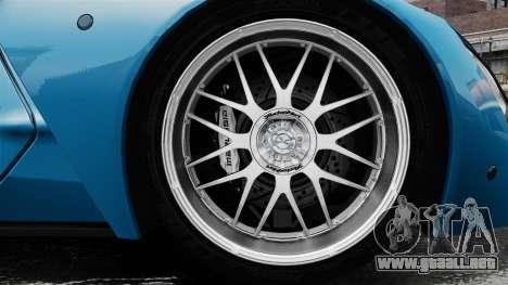 Marussia B2 para GTA 4 vista hacia atrás