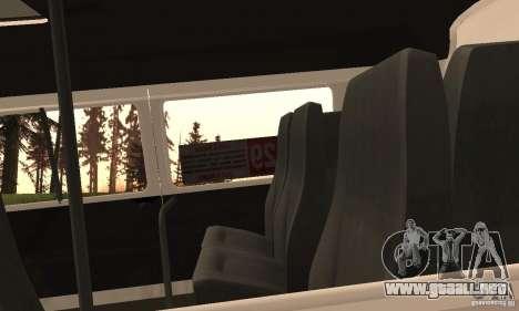 Gacela 32213 Novosibirsk Minibus para visión interna GTA San Andreas