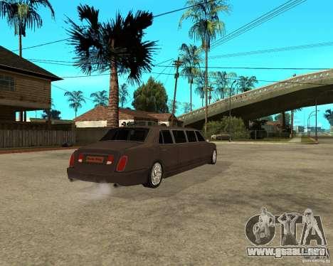 Rolls Royce Silver Seraph para GTA San Andreas vista posterior izquierda