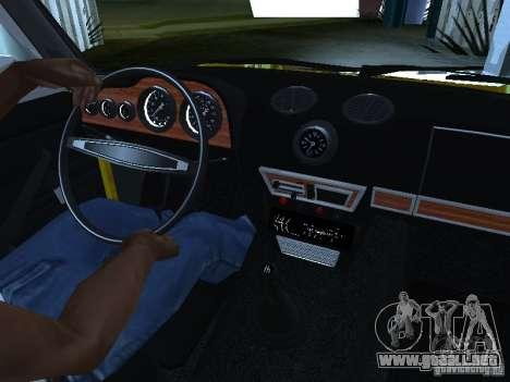 2106 Vaz (oro) para GTA San Andreas vista hacia atrás