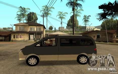 Hyundai Starex para GTA San Andreas left
