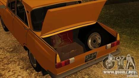 Moskvich 412 v2.0 para las ruedas de GTA San Andreas