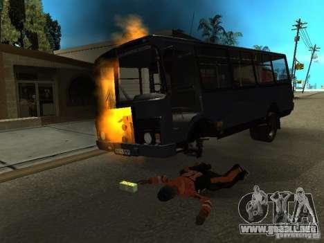 Wrecked car fix para GTA San Andreas sucesivamente de pantalla