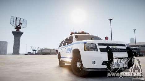Chevrolet Tahoe 2012 NYPD para GTA 4 visión correcta