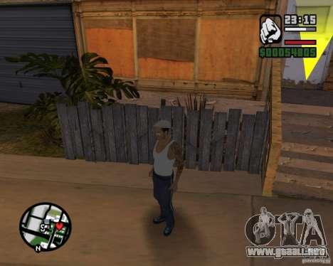 CJ Gopnik para GTA San Andreas sucesivamente de pantalla