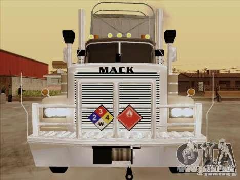 Mack RoadTrain para GTA San Andreas left
