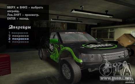 Bowler Nemesis para visión interna GTA San Andreas
