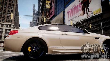 BMW M6 2013 para GTA 4 vista hacia atrás