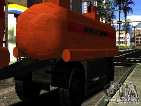 MAZ 533702 camión para vista lateral GTA San Andreas