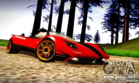 Pagani Zonda Tricolore V2 para visión interna GTA San Andreas