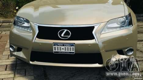 Lexus GS350 2013 v1.0 para GTA 4 ruedas