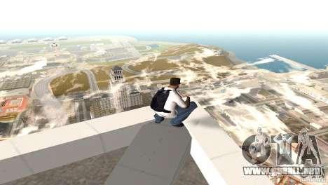Parašut azul para GTA San Andreas segunda pantalla