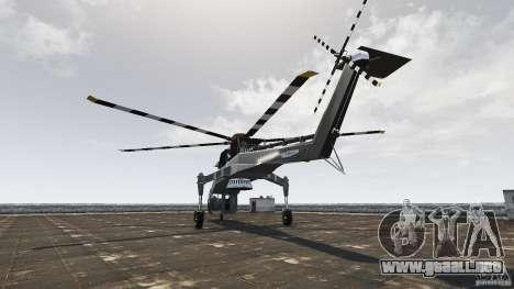 SkyLift Helicopter para GTA 4 Vista posterior izquierda