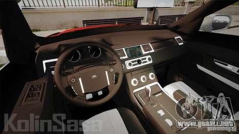 Range Rover Evoque para GTA 4 vista hacia atrás