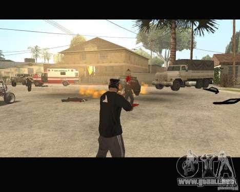 Sangue na tela v2 para GTA San Andreas sucesivamente de pantalla