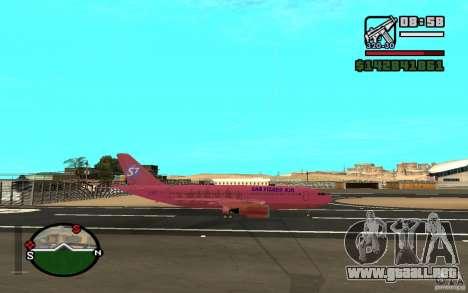 Airbus A-310 S7 SanFierroAir para la visión correcta GTA San Andreas