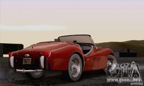 Triumph TR3B 1962 para visión interna GTA San Andreas
