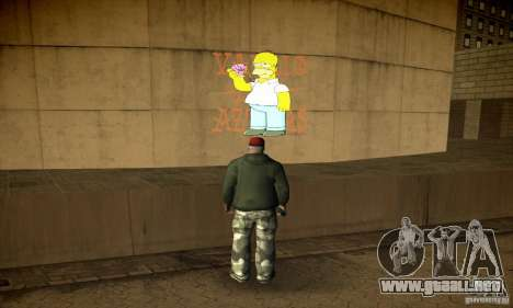 Simpson Graffiti Pack v2 para GTA San Andreas sexta pantalla